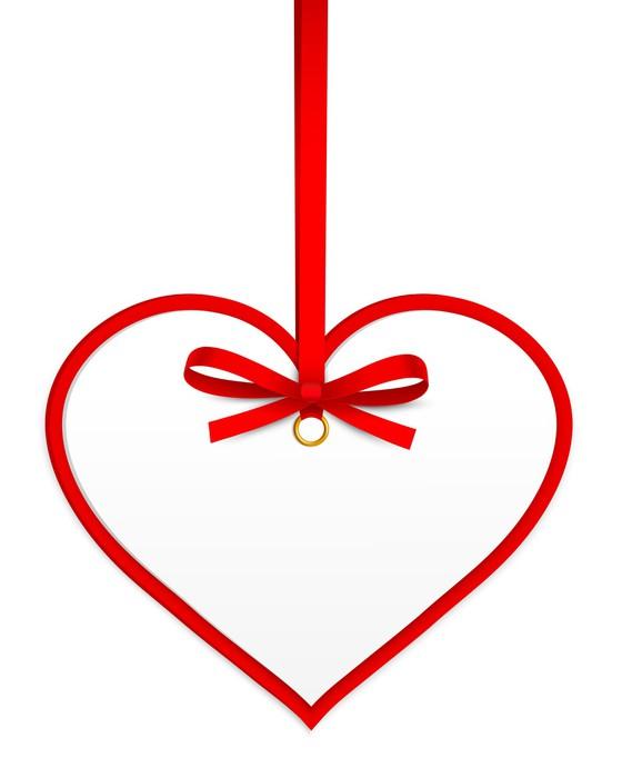 Vinylová Tapeta Srdce S Red Bow - Mezinárodní svátky