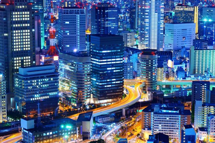 Vinylová Tapeta Osaka Japan Cityscape - Asie