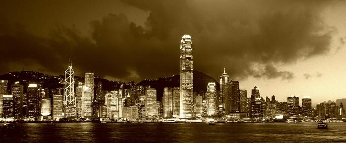 Vinylová Tapeta Skyline Hong Kong - Asie