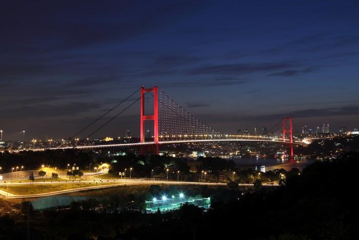 Vinylová Tapeta Bospor most, Istanbul, Turecko - Střední Východ