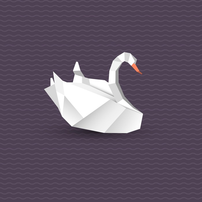 Vinylová Tapeta Vektorové origami labuť - Asie