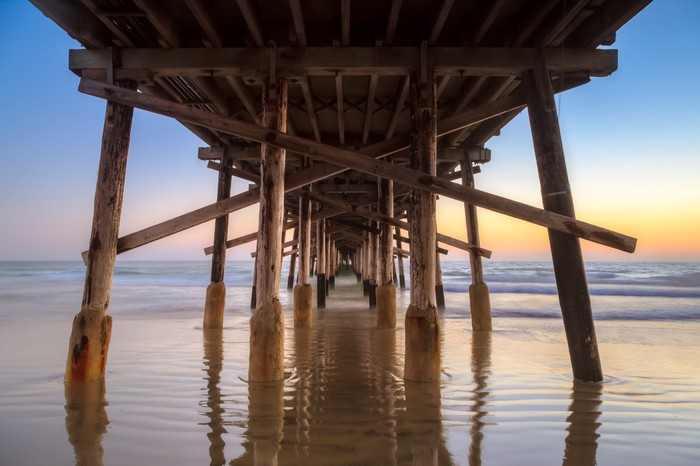 Under Newport Beach Pier At Sunset Vinyl Wall Mural Themes: Pier And Sunset Color Sheet At Alzheimers-prions.com