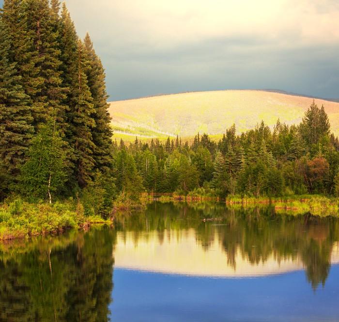 Vinylová Tapeta Lake na Aljašce - Témata