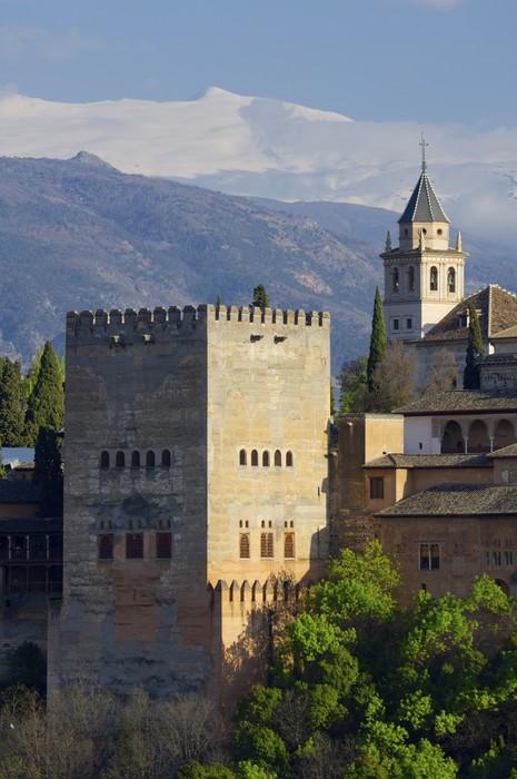 Vinylová Tapeta Západ slunce v Alhambra - Evropa