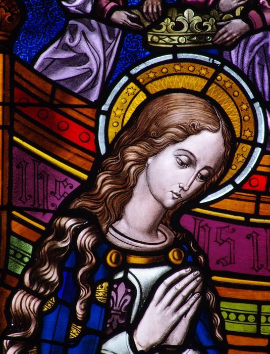 Vinylová Tapeta Mary korunován v vitráží - Veřejné budovy