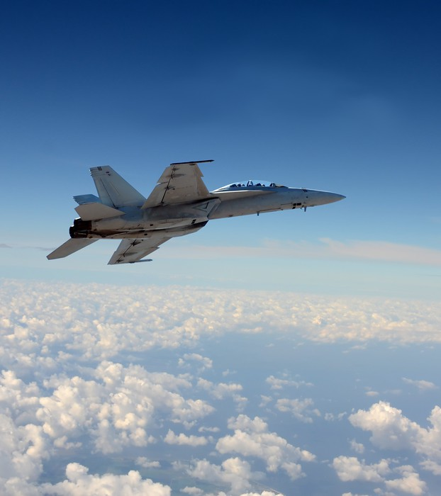 Jetfighter lennossa Pixerstick tarra - Themes
