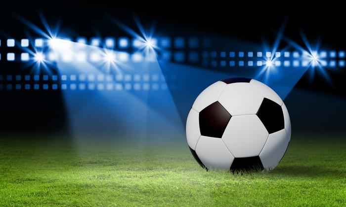 Vinylová Tapeta Černá a bílá fotbalový míč - Týmové sporty