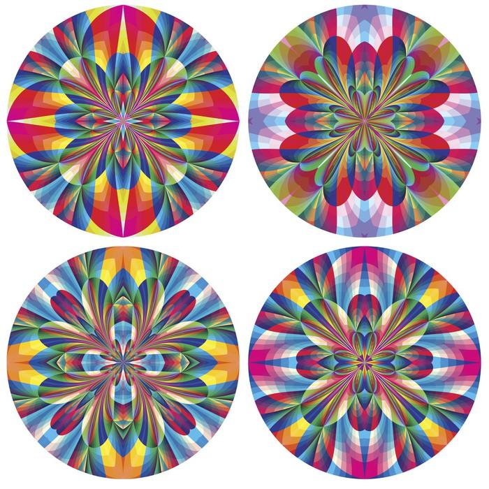 Vinylová Tapeta Set art deco růžice s historickými motivy - Abstraktní