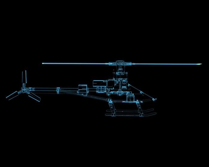 Vinylová Tapeta Vrtulník izolovaných na černém - Značky a symboly