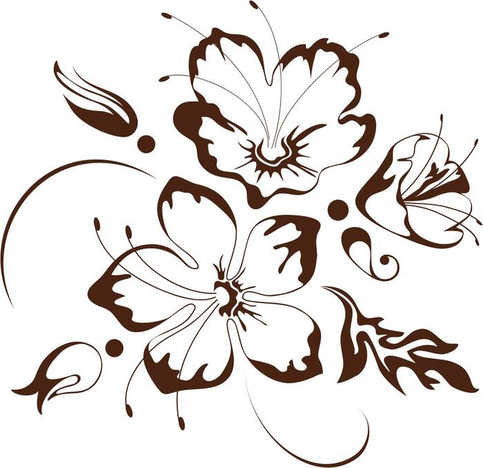 Vinylová Tapeta Květinový design, vektorové ilustrace - Květiny