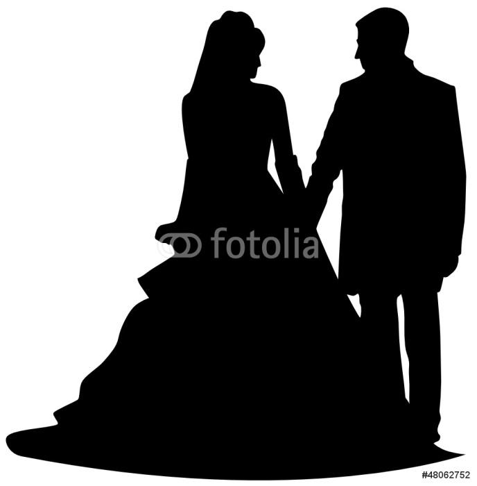 Sticker Pixerstick Brautpaar -