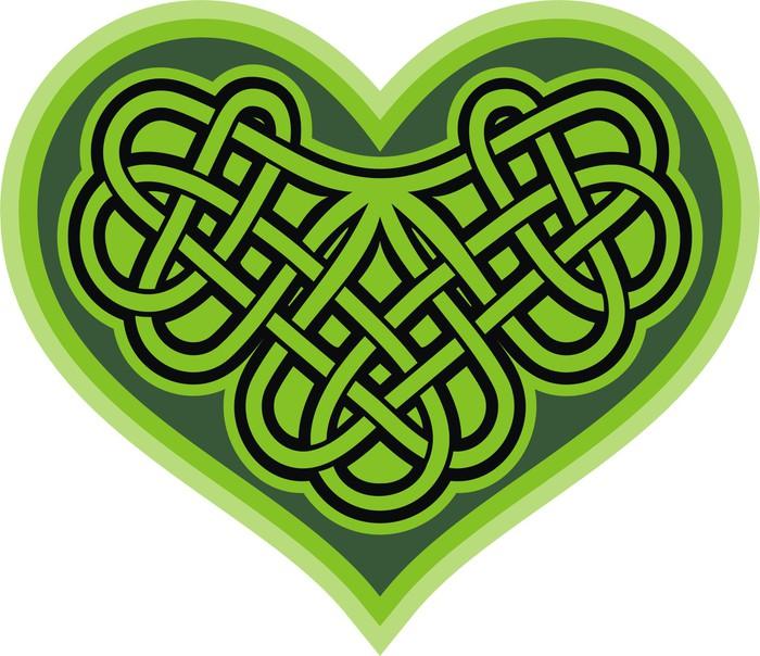 Shamrock Heart Celtic Symbol Poster Pixers We Live To Change