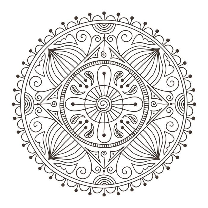 Vinilo pixerstick mandala doodle pixers vivimos para for Vinilos pared mandalas