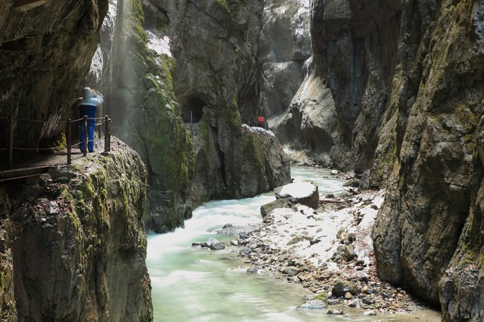 Vinylová Tapeta Garmisch Partenkirchen - Partnachklamm - Příroda a divočina