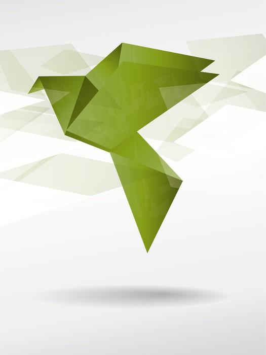 Fototapete japan origami papier fliegenden vogel pixers - Fototapete papier ...