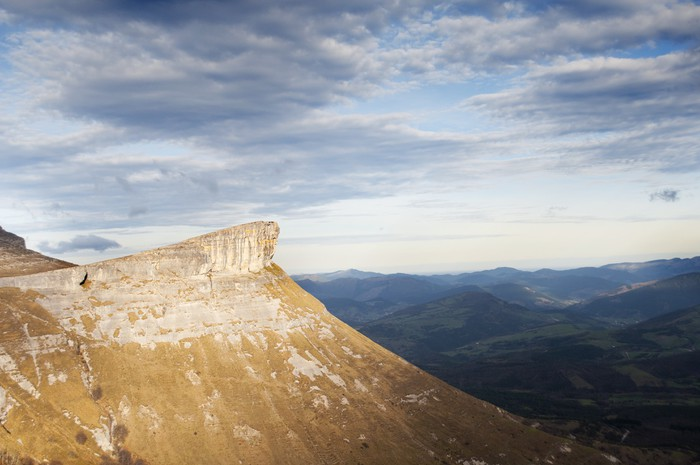 Vinylová Tapeta Údolí pohled na východ slunce z vrcholu hory, Španělsko - Hory