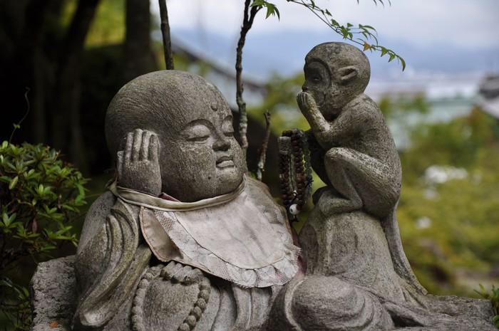 Vinylová fototapeta Figura de Piedra en Hasedera. Kamakura. Japon - Vinylová fototapeta