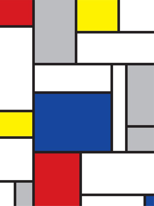 Carta da Parati Autoadesiva Mondrian arte contemporanea -