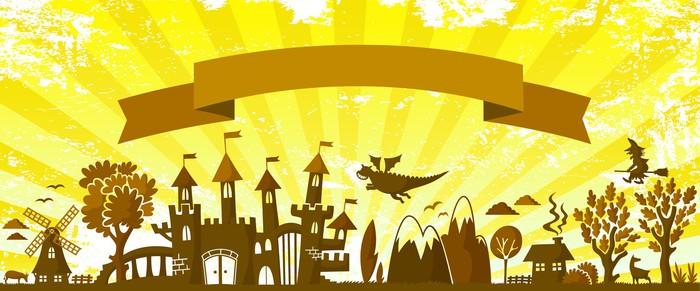 Nálepka Pixerstick Pohádka na téma silueta na mizerná pozadí - Pozadí