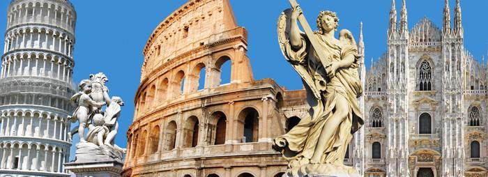 Nálepka Pixerstick Největší italské památky - Evropská města