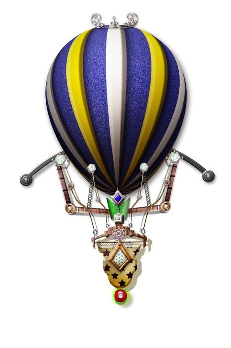 papier peint montgolfi re steampunk pixers nous vivons pour changer. Black Bedroom Furniture Sets. Home Design Ideas