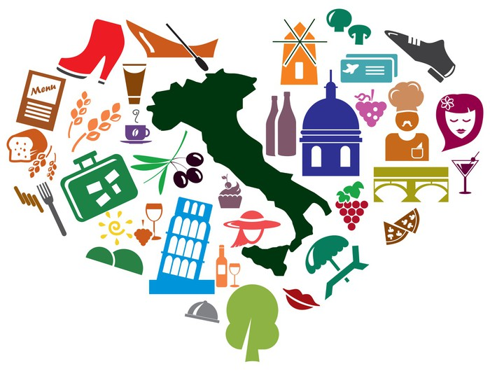 Italian Symbols Icons Wall Mural Pixers We Live To Change