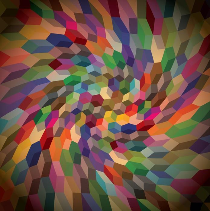 Fotomural resumen de antecedentes de los cubos rizado ilustraci n pixers vivimos para cambiar - Fotomurales pixel ...