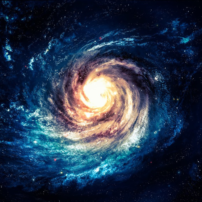 Incredibly beautiful spiral galaxy somewhere in deep space pixerstick sticker universe