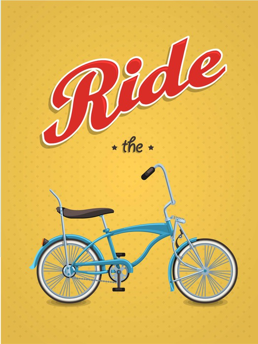 lowrider bike background,vector bicycle, Wall Mural • Pixers® • We ...