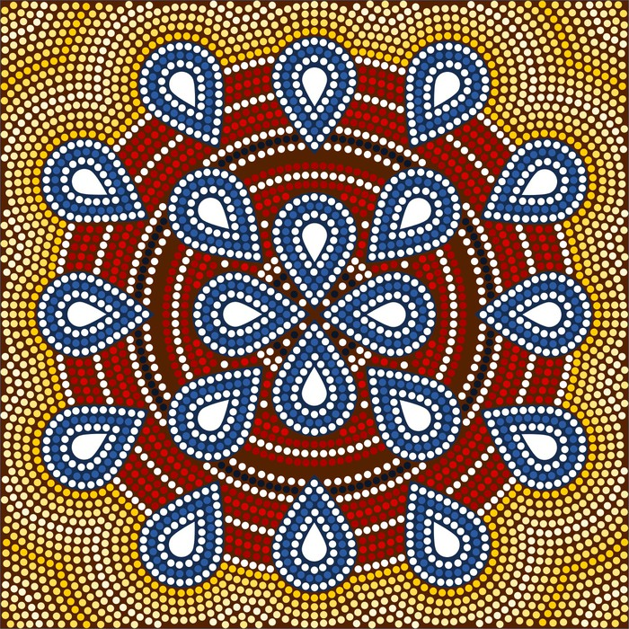 Vinylová Tapeta Ilustrace na základě domorodý styl dot malování depicti - Oceánie