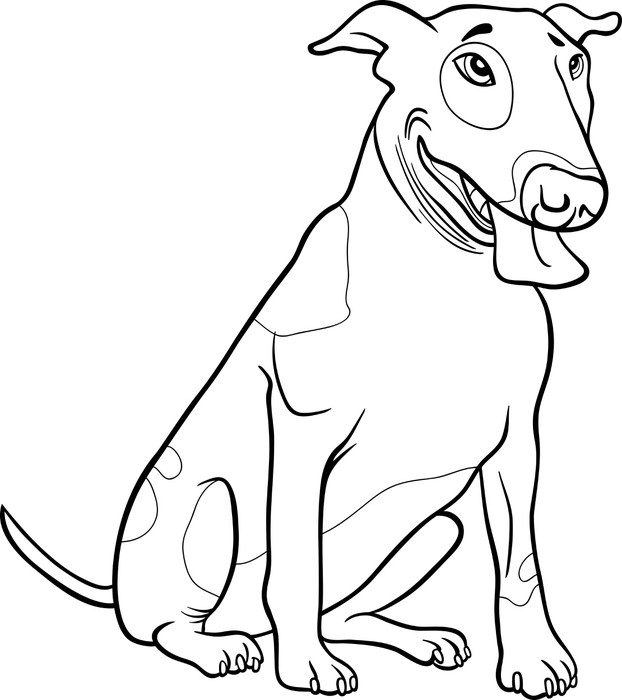 Bull Terrier Dog For Coloring Book Pixerstick Sticker