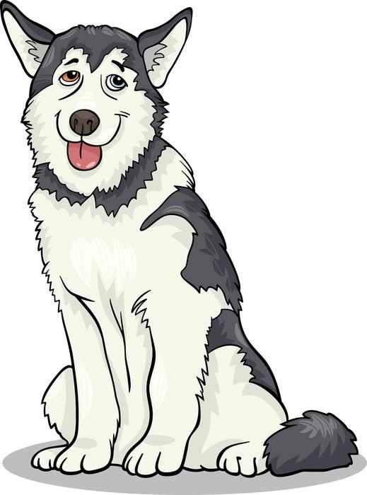 Vinilo Pixerstick Husky malamute o dibujos animados perro • Pixers ...