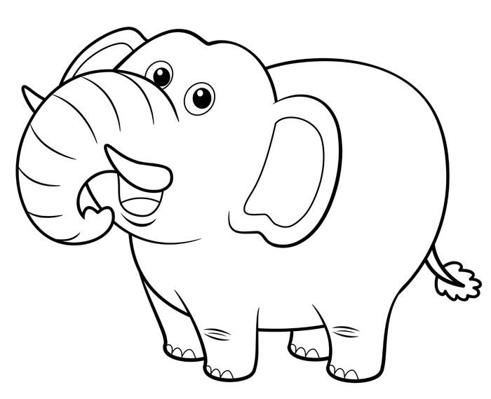 Vinilo Pixerstick Ilustración de dibujos animados de elefantes ...