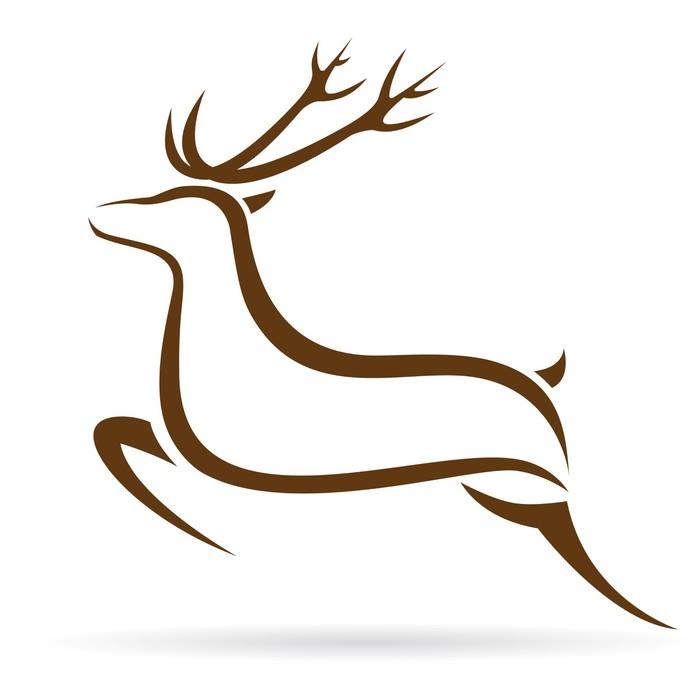 Vector Illustration Of Deer Symbol Tattoo Sticker Pixers We