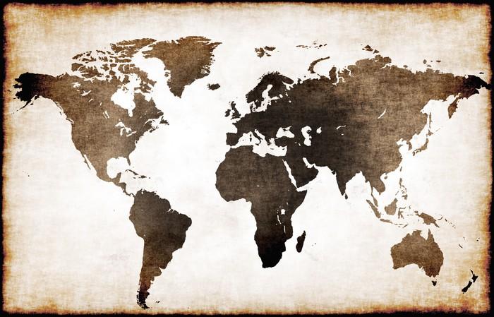 Vinilo pixerstick mapa mundi antiguo pixers vivimos - Cuadro mapamundi ikea ...