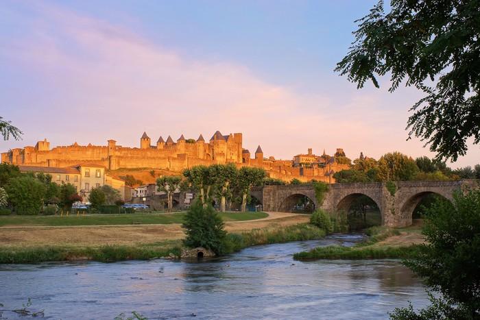 Vinylová Tapeta Carcassonne, Francie při západu slunce - Témata