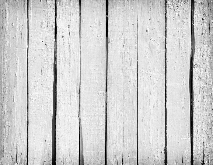 Weathered white wood Vinyl Wall Mural - Backgrounds