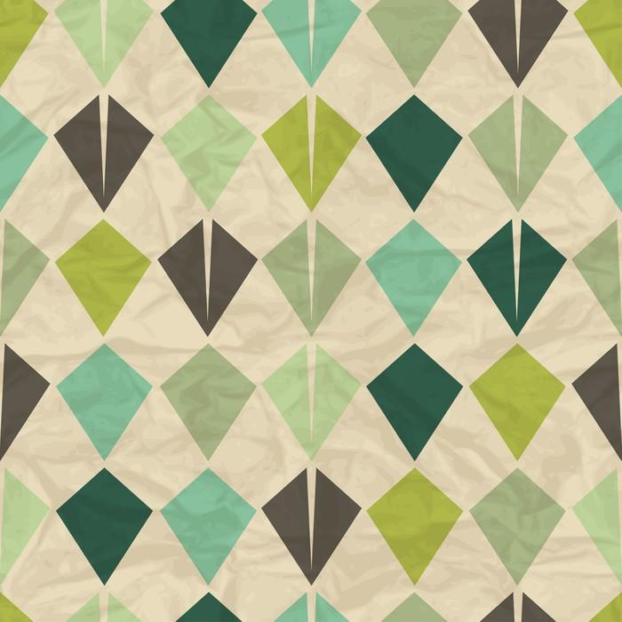 Vinylová Tapeta Seamless Retro Geometric pattern - Styly