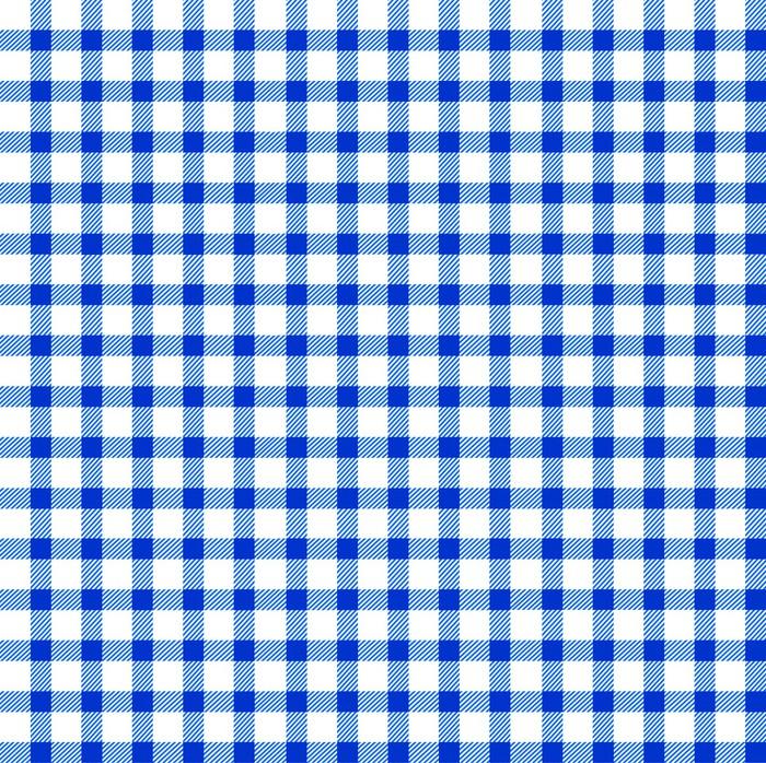 Seamless Retro White Blue Square Tablecloth Pixerstick Sticker Textures