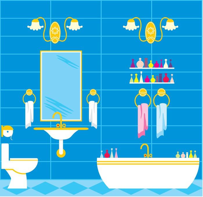 Papier peint salle de bain pixers nous vivons pour for Papier peint vinyle salle de bain