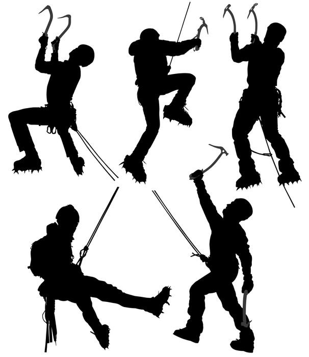 Vinylová Tapeta Ice horolezec - Extrémní sporty