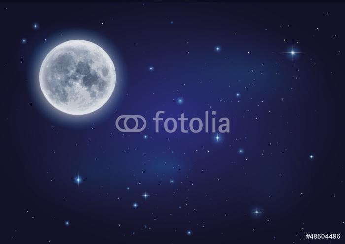 sticker lune et ciel toil pixers nous vivons pour changer. Black Bedroom Furniture Sets. Home Design Ideas