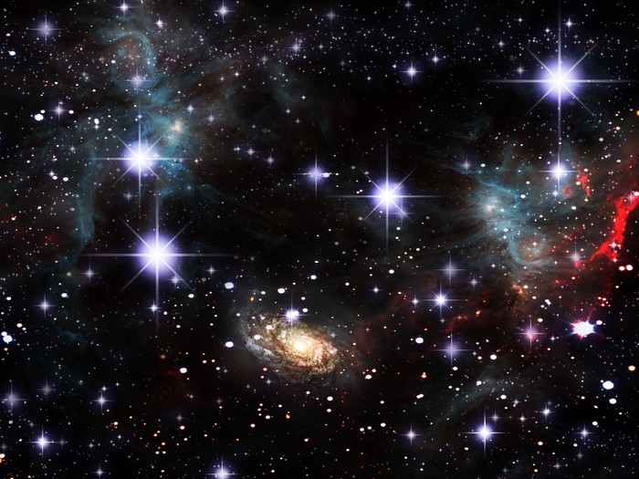 Vinylová Tapeta Space Nebula - Meziplanetární prostor
