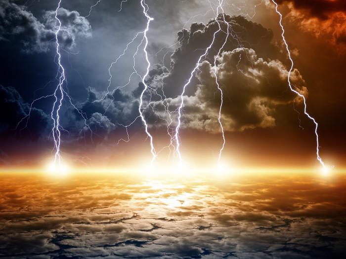 Vinylová Tapeta Dramatický apokalyptické pozadí - Přírodní katastrofy
