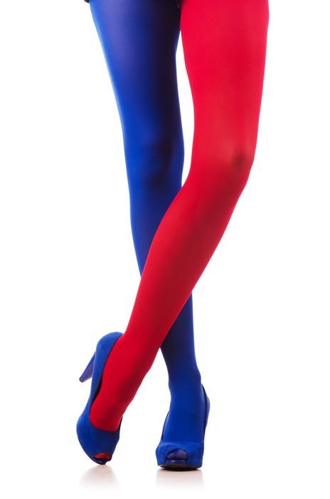 Sticker Pixerstick Femme avec des bas de couleurs du drapeau français -