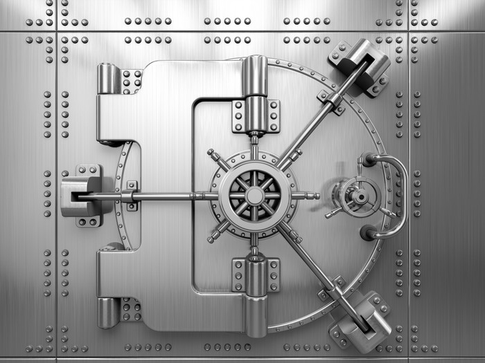 Bank Vault Door Vinyl Wall Mural - Styles & Bank Vault Door Wall Mural \u2022 Pixers® \u2022 We live to change
