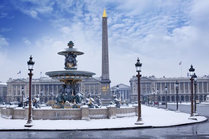 Plakát Place de la Concorde - Paříž - Evropská města