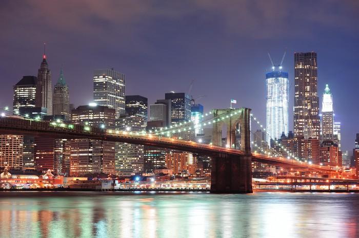 Vinylová Tapeta New York City Brooklyn Bridge - Témata