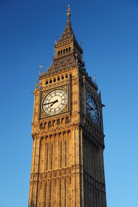 Famous Big Ben With Clock In London England Sticker Pixers We