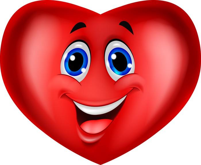 Fotomural Estndar De dibujos animados de corazn rojo  Pixers
